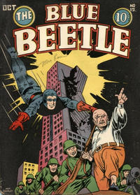Cover Thumbnail for Blue Beetle (Holyoke, 1942 series) #15