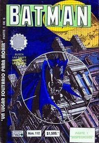 Cover Thumbnail for Batman (Grupo Editorial Vid, 1987 series) #112