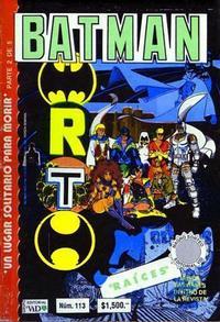 Cover Thumbnail for Batman (Grupo Editorial Vid, 1987 series) #113