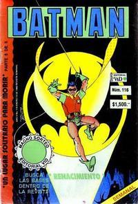 Cover Thumbnail for Batman (Grupo Editorial Vid, 1987 series) #116
