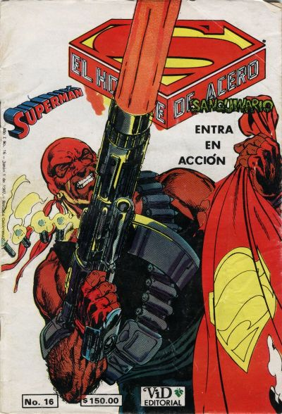Cover for Supermán (Grupo Editorial Vid, 1986 series) #16