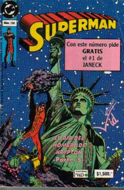 Cover for Supermán (Grupo Editorial Vid, 1986 series) #154