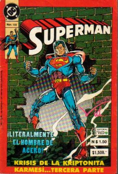 Cover for Supermán (Grupo Editorial Vid, 1986 series) #183