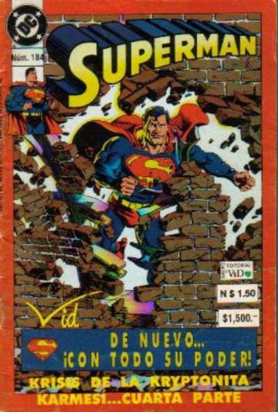 Cover for Supermán (Grupo Editorial Vid, 1986 series) #184