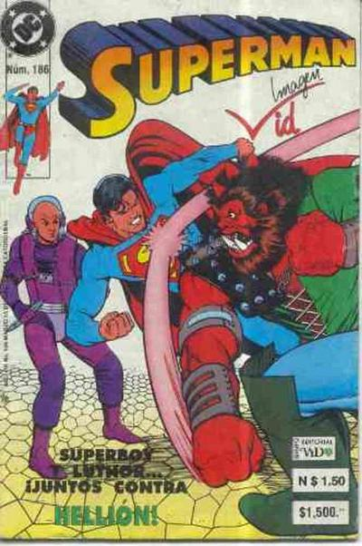 Cover for Supermán (Grupo Editorial Vid, 1986 series) #186