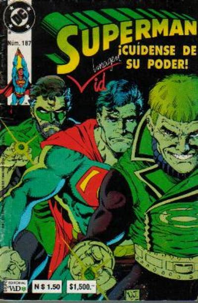 Cover for Supermán (Grupo Editorial Vid, 1986 series) #187