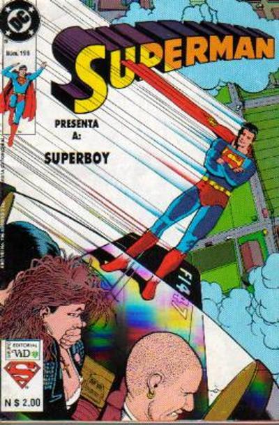 Cover for Supermán (Grupo Editorial Vid, 1986 series) #196