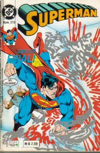 Cover for Supermán (Grupo Editorial Vid, 1986 series) #216