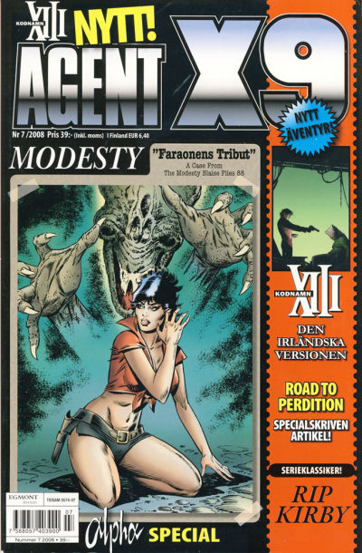 Cover for Agent X9 (Egmont, 1997 series) #7/2008