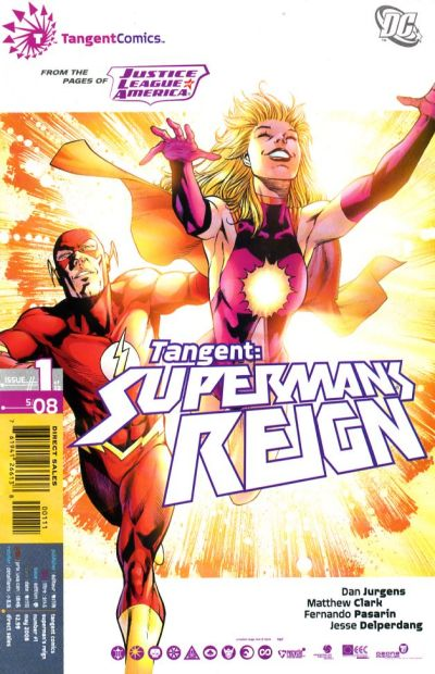 Cover for Tangent: Superman's Reign (DC, 2008 series) #1