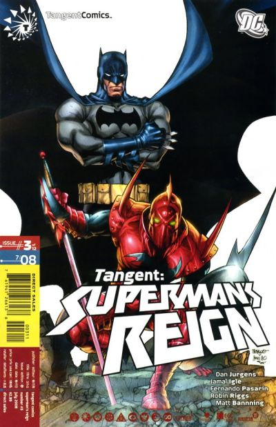 Cover for Tangent: Superman's Reign (DC, 2008 series) #3