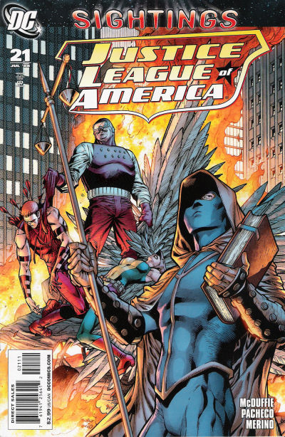 Cover for Justice League of America (DC, 2006 series) #21