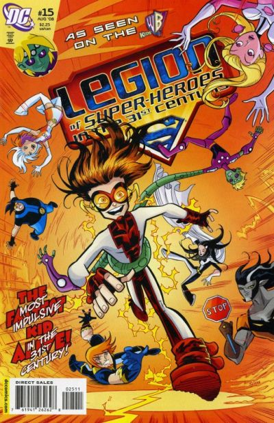 Cover for The Legion of Super-Heroes in the 31st Century (DC, 2007 series) #15