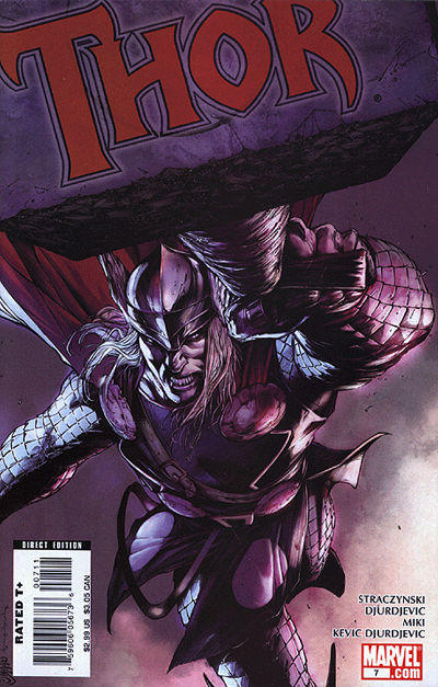 Cover for Thor (Marvel, 2007 series) #7 [Olivier Coipel variant cover]