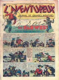 Cover Thumbnail for L'Aventureux (Editions Mondiales, 1936 series) #11/1941