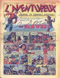 Cover Thumbnail for L'Aventureux (Editions Mondiales, 1936 series) #15/1941
