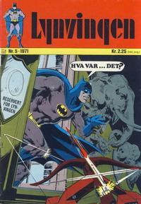 Cover Thumbnail for Lynvingen (Illustrerte Klassikere / Williams Forlag, 1969 series) #5/1971