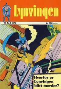 Cover Thumbnail for Lynvingen (Illustrerte Klassikere / Williams Forlag, 1969 series) #5/1973