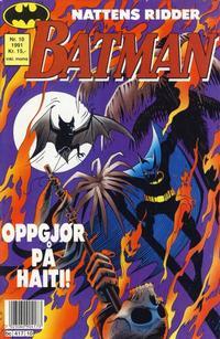 Cover for Batman (Semic, 1989 series) #10/1991