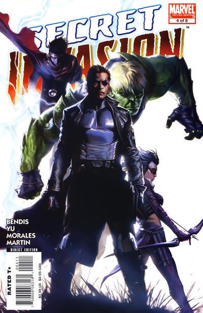 Cover for Secret Invasion (Marvel, 2008 series) #4 [Steve McNiven Limited Sketch Cover]