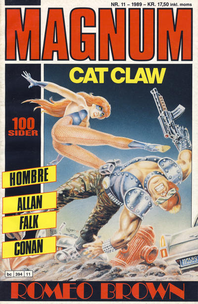 Cover for Magnum (Bladkompaniet, 1988 series) #11/1989
