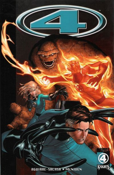 Cover for Marvel Knights 4 (Marvel, 2004 series) #1 - Wolf at the Door