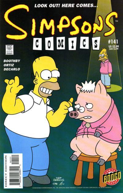 Cover for Simpsons Comics (Bongo, 1993 series) #141