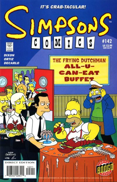 Cover for Simpsons Comics (Bongo, 1993 series) #142