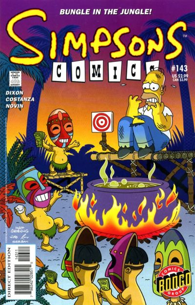Cover for Simpsons Comics (Bongo, 1993 series) #143