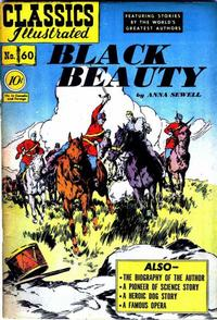 Cover Thumbnail for Classics Illustrated (Gilberton, 1947 series) #60 [O] - Black Beauty