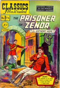 Cover Thumbnail for Classics Illustrated (Gilberton, 1947 series) #76 [O] - The Prisoner of Zenda