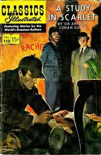 Cover Thumbnail for Classics Illustrated (Gilberton, 1947 series) #110 [O] - A Study in Scarlet