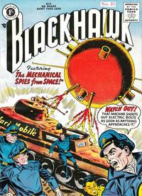 Cover Thumbnail for Blackhawk (Thorpe & Porter, 1956 series) #21