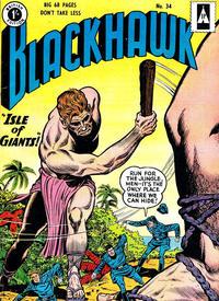 Cover Thumbnail for Blackhawk (Thorpe & Porter, 1956 series) #34
