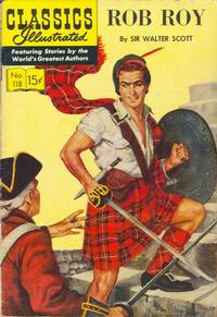 Cover Thumbnail for Classics Illustrated (Gilberton, 1947 series) #118 [O] - Rob Roy