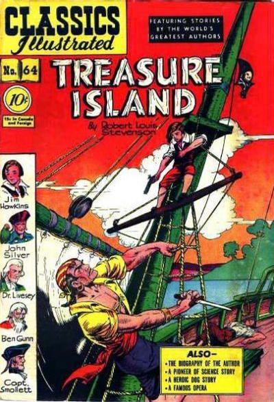 Cover for Classics Illustrated (Gilberton, 1947 series) #64 [O] - Treasure Island