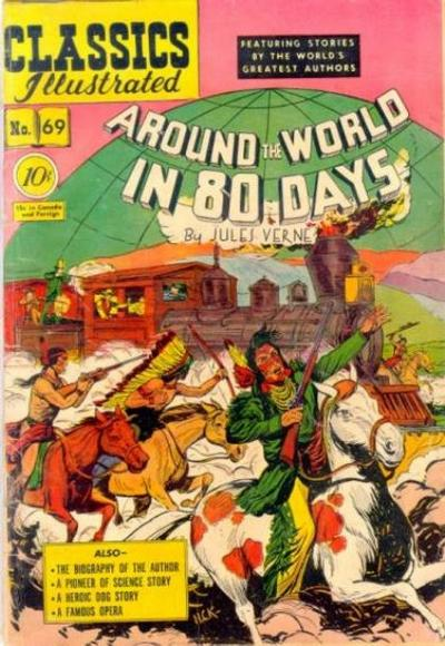 Cover for Classics Illustrated (Gilberton, 1947 series) #69 [O] - Around the World in 80 Days