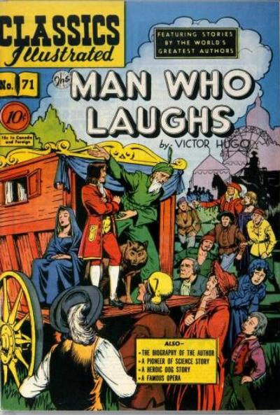 Cover for Classics Illustrated (Gilberton, 1947 series) #71 [O] - The Man Who Laughs