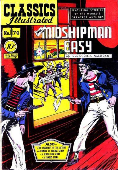 Cover for Classics Illustrated (Gilberton, 1947 series) #74 [O] - Mr. Midshipman Easy