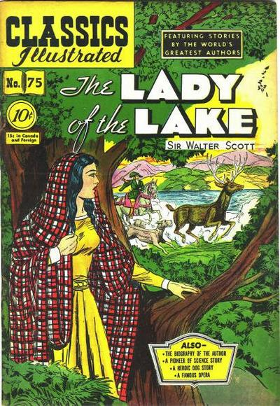 Cover for Classics Illustrated (Gilberton, 1947 series) #75 [O] - The Lady of the Lake