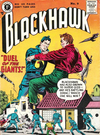 Cover for Blackhawk (Thorpe & Porter, 1956 series) #9