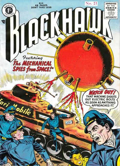 Cover for Blackhawk (Thorpe & Porter, 1956 series) #21
