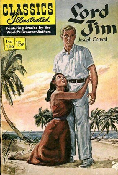 Cover for Classics Illustrated (Gilberton, 1947 series) #136 [O] - Lord Jim