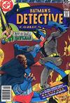 Cover for Detective Comics (DC, 1937 series) #479