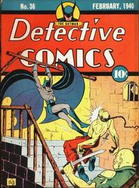 Cover Thumbnail for Detective Comics (DC, 1937 series) #36