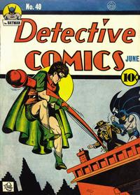Cover Thumbnail for Detective Comics (DC, 1937 series) #40