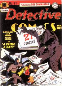 Cover Thumbnail for Detective Comics (DC, 1937 series) #71