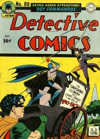 Cover for Detective Comics (DC, 1937 series) #80