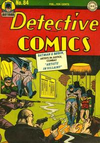 Cover Thumbnail for Detective Comics (DC, 1937 series) #84