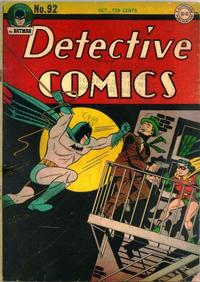 Cover Thumbnail for Detective Comics (DC, 1937 series) #92